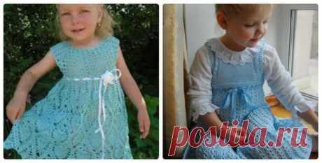Как связать красивый детский сарафан? Схемы вязаного сарафана спицами и крючком