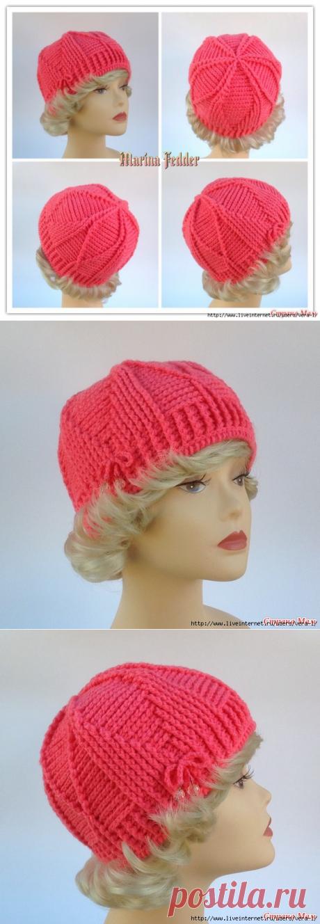 """Идея шапочки """"Розовая пантера"""" для любителей рельефных столбиков"""
