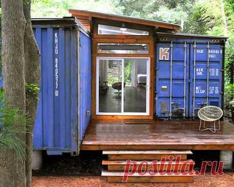 Экономичный проект дачного дома из контейнеров