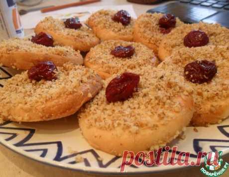 Гогошь-печенье с вишней и орехами – кулинарный рецепт
