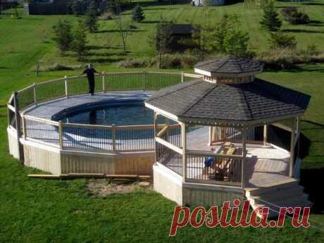 Палуба бассейна и беседка | Hometalk