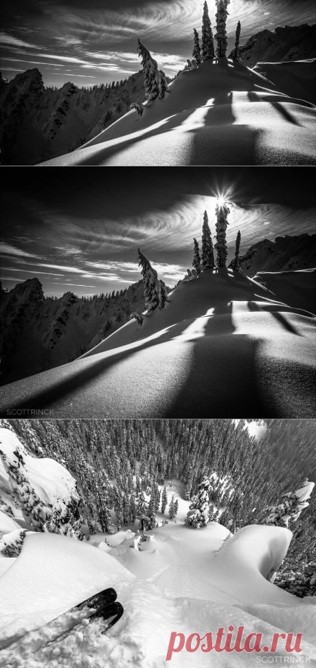 Чёрно-белые горные пейзажи фотограф Скотт Ринкенбергер