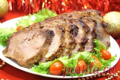 Мясо в духовке «Новогодний пир» – Пошаговый рецепт с фото. Новогодние рецепты 2018. Вкусные рецепты с фото. Новогодние вторые блюда