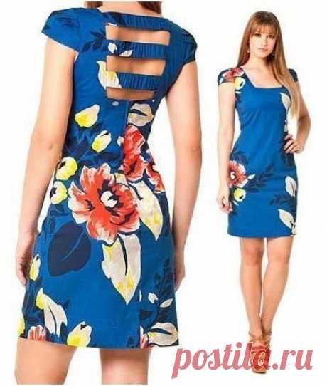 Выкройка женского платья с интересной спинкой (Шитье и крой)
