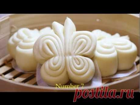 Kitchenaid馒头花卷8种初级整形方法how to shape steamed bun(8ways)