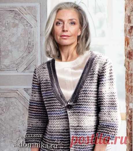 Стильный вязаный кардиган для женщин 60 лет - вязание для пожилых