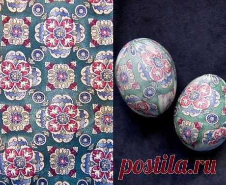 К Пасхе: покраска яиц шёлком