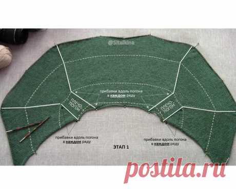 Реглан-погон и 3 основных этапа вязания на основе пуловера