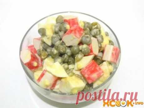 Салат с крабовыми палочками и горошком – вкусный рецепт приготовления с яйцом