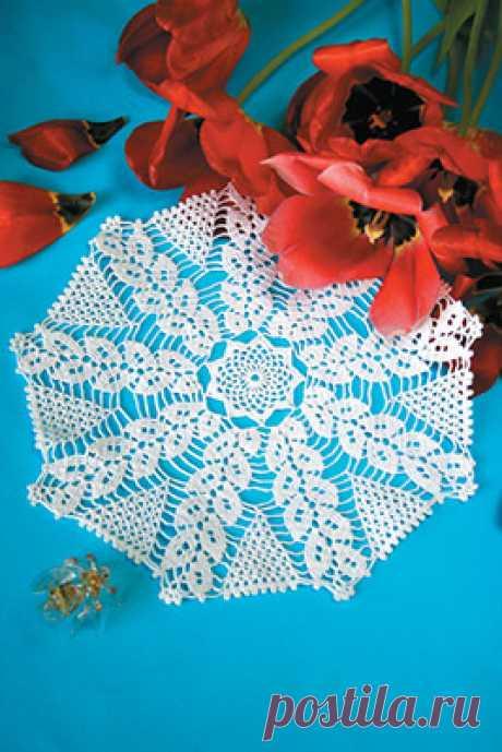 Скачайте схемы Белая салфетка, вид рукоделия Филейное вязание - Валентина.ру
