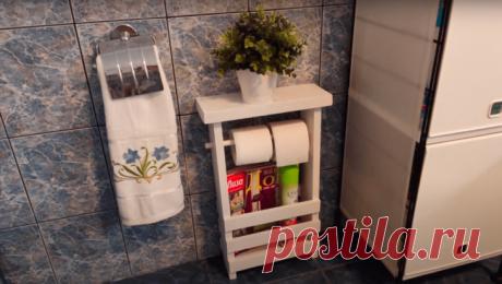 Нужная вещь для ванной и туалета Несмотря на то, что мы, казалось бы, живем далеко не во время дефицита, многие расстаются с вещами не сразу, а откладывают их до лучших времен. Например, для кого-то остатки и обрезки деревянных досок...