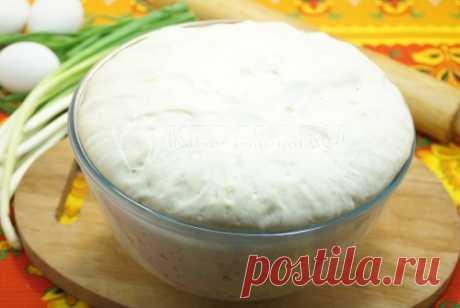 Тесто для пирожков на сухих дрожжах