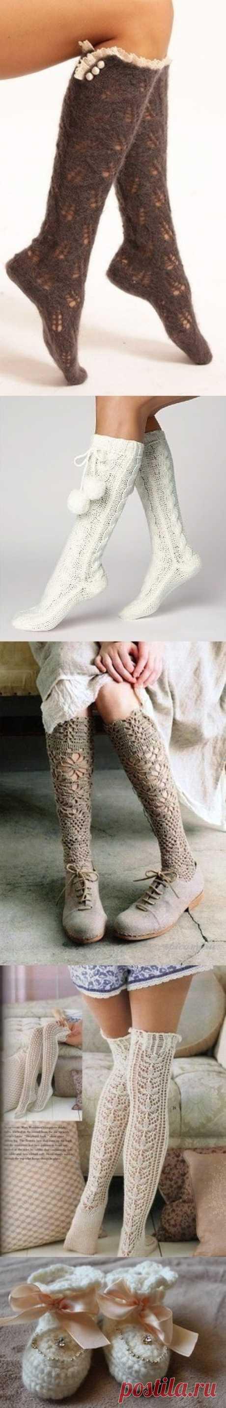 Кто сказал, что вязаные носки не могут быть красивыми?