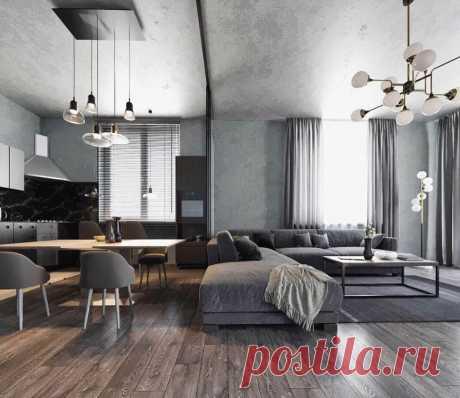 Серый цвет в интерьере: 30 идей дизайна ~ ALL-DEKOR