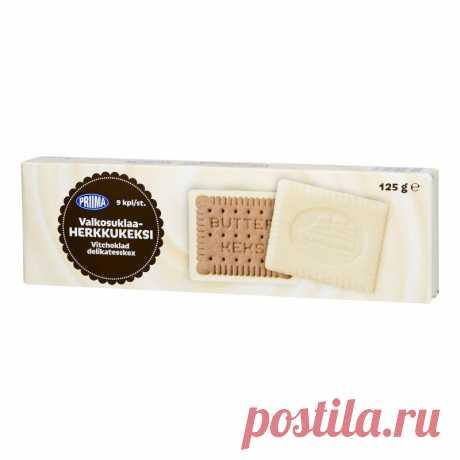 Лакомство печенье 125 г белого шоколада, желательно Tokmannilta
