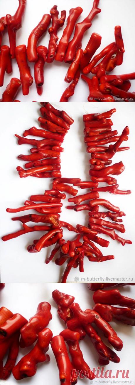 Коралл бусины-веточки, 28-89 мм – купить в интернет-магазине на Ярмарке Мастеров с доставкой - E86BFRU | Красный Яр