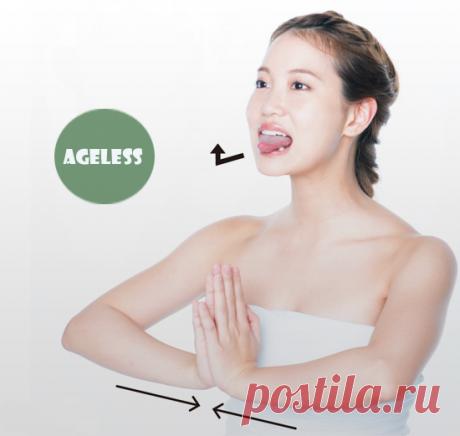 Упражнение Когао для овала лица и груди