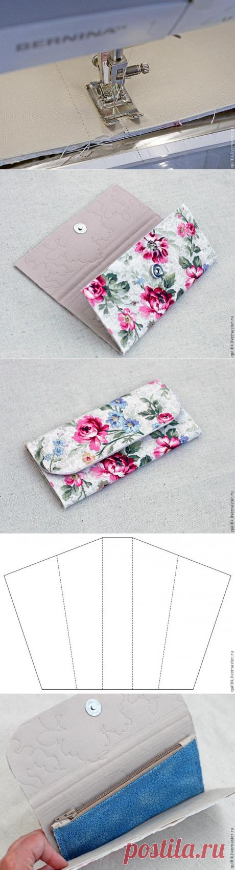 Мастер-класс: шьем текстильный кошелек – Ярмарка Мастеров