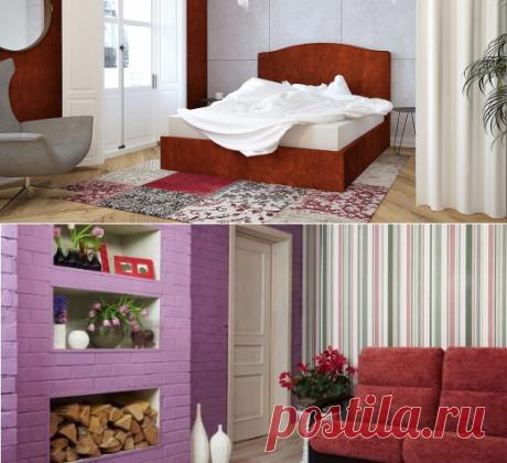 Красный цвет в спальне-это предложение для смелых