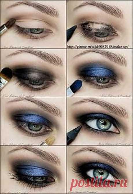 синий смоки-eyes