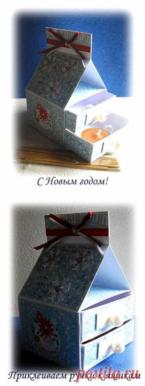 Подарочная коробка-комод своими руками - мастер-класс, схема