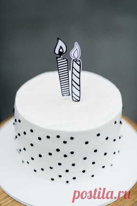35 красивых тортов с очень простым декором