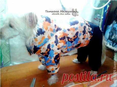 Мастер-класс смотреть онлайн: Шьем зимний костюм для собаки. Часть 2. Куртка | Журнал Ярмарки Мастеров