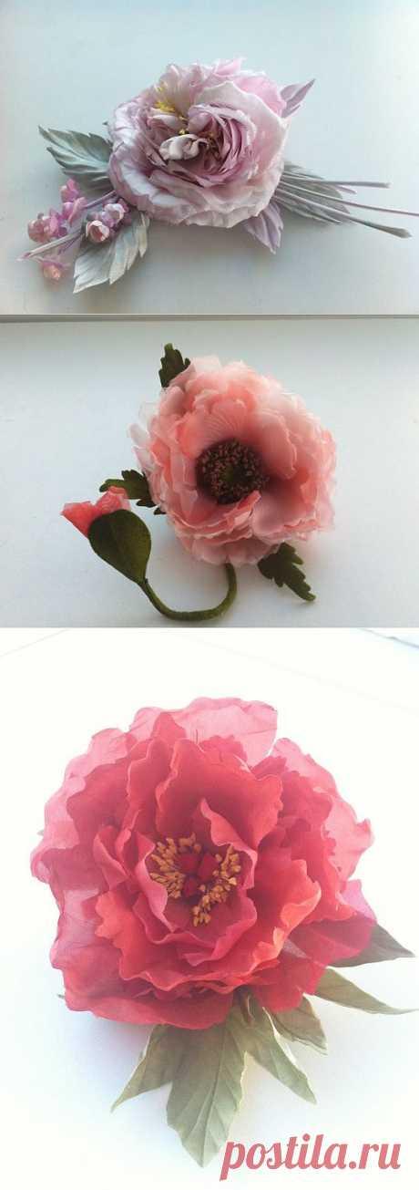 (+1) тема - Мои цветуёчки(шелковая флористика) | РУКОДЕЛИЕ