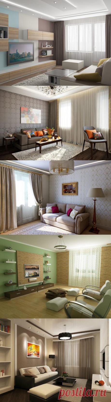 Интерьеры гостиной: фото просто и со вкусом