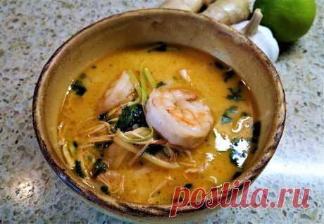 Очень вкусный суп в тайском стиле. Пошаговый рецепт с фото | Поделки, рукоделки, рецепты | Яндекс Дзен