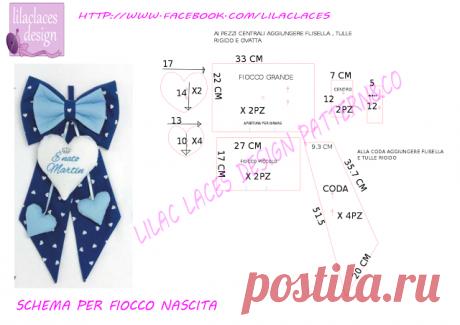 birth ribbon pattern , no problem! cartamodello fiocco nascita , no problem! ~ lilac laces design patterns.co