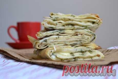 Быстрая закуска из лаваша - 7 пошаговых фото в рецепте