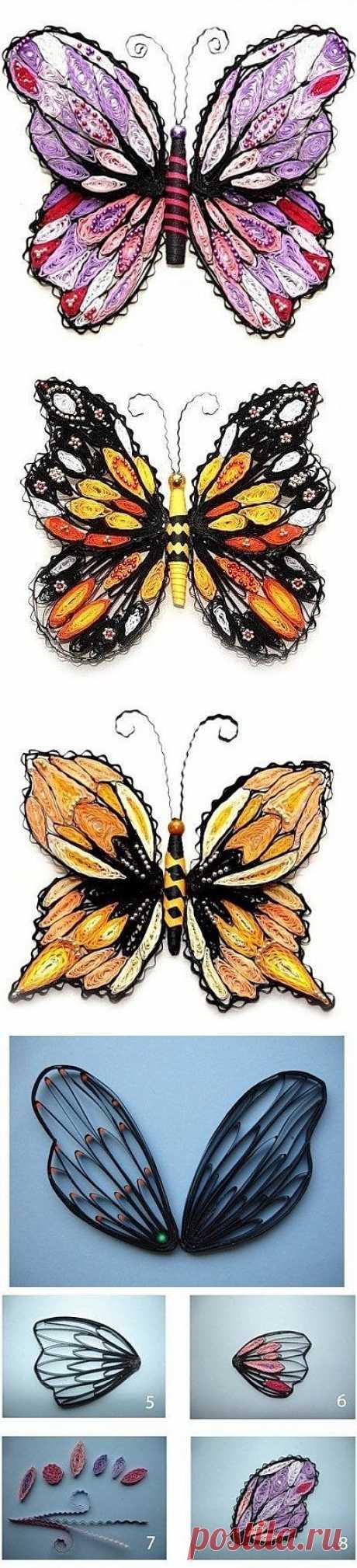 Чудесные бабочки. Квиллинг