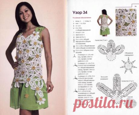 Летнее платье крючком мотивами? Да! (модели+схемы) | Mariram | Яндекс Дзен