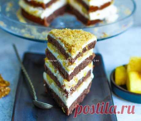 Рецепт торта «Сметанник» с ананасом и грецкими орехами | HomeBaked
