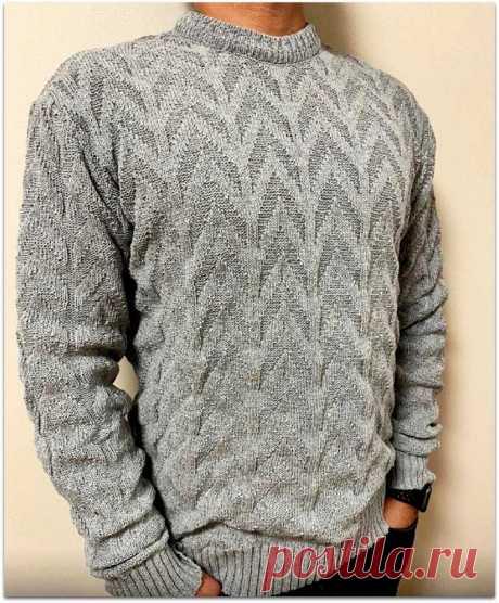 Вяжем подарок к 23 февраля: 5 мужских свитеров спицами   Вяжем Тут