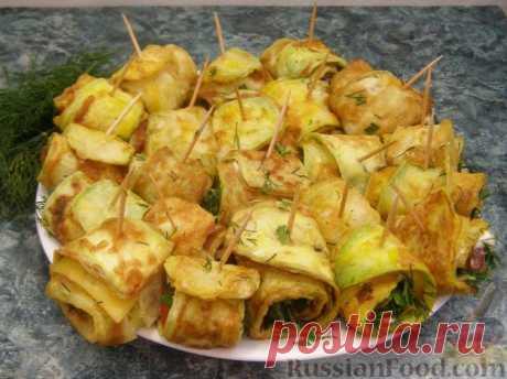 "Recipe: Fried vegetable marrows of ""Тещин язык"" on RussianFood.com"