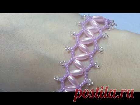 Браслет  из бисера/Браслет из бусин и бисера/Браслет из бусин/Beaded bracelet/Pearl bracelet/Diy