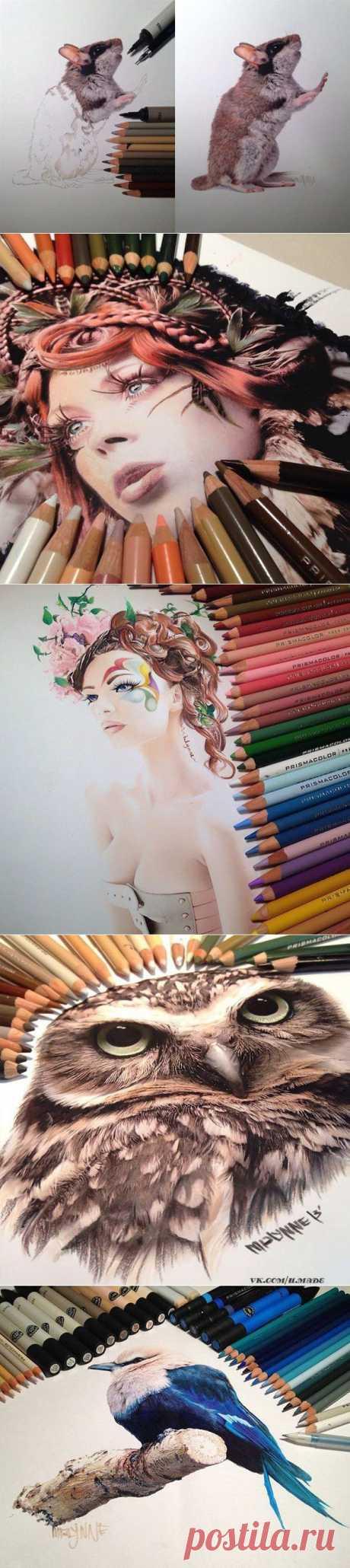Рисунки в стиле гиперреализма от Karla Mialynne