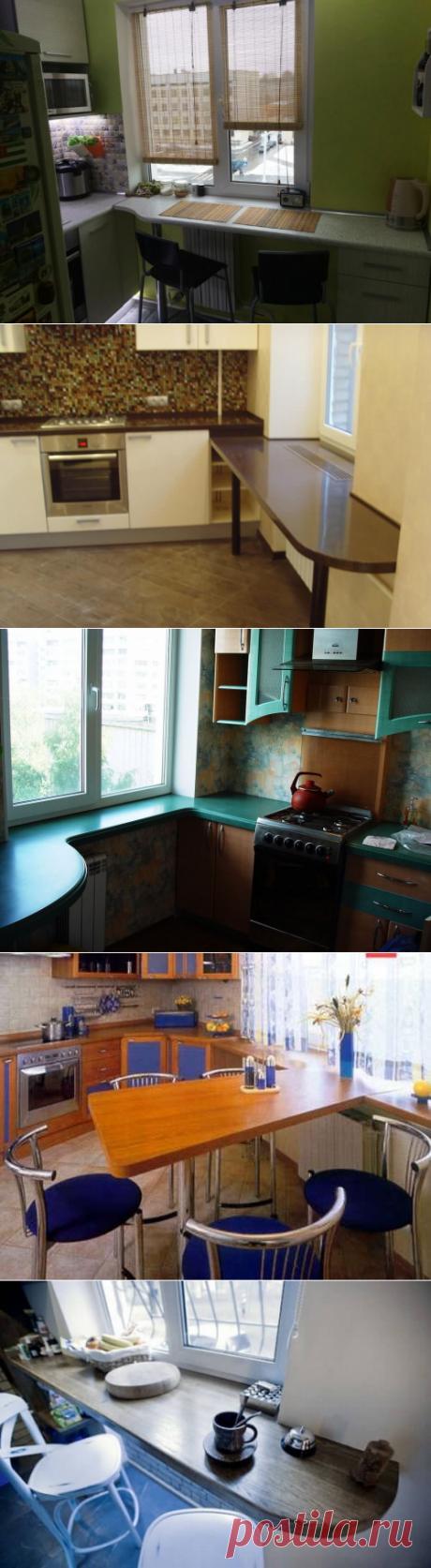 22 идеи для обустройства функционального подоконника на маленькой кухне | В темпі життя