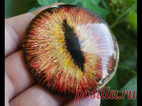 Video master class in a list: How to draw an Eye of the Dragon on a cabochon - record of the user Natalya (Natalya) in community the World in category Various toys of handwork