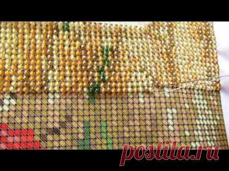 ¿Cómo bordar por los abalorios?