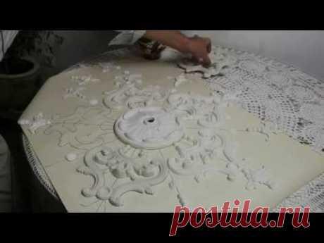 Лепнина | Потолочные розетки из гипса | Подготовка к установке на потолок