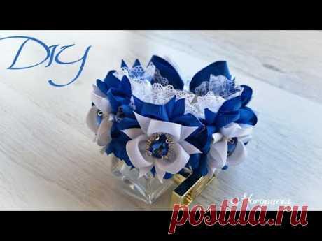 Шикарное украшение на гульку / пучок / МК Канзаши / DIY Ribbon Flowers