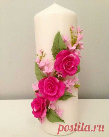декор свечи цветами: 2 тыс изображений найдено в Яндекс.Картинках