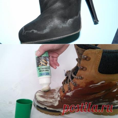 Как убрать соль с замшевой обуви: методы и средства