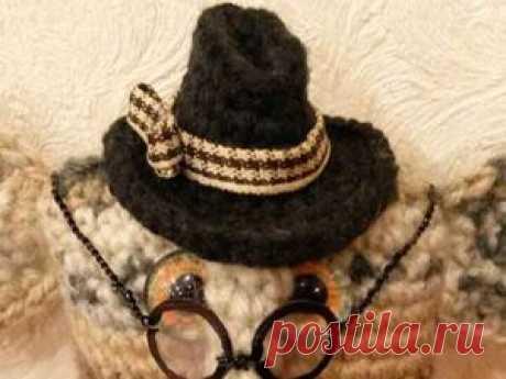Вяжем для игрушки классическую шляпу с полями - Ярмарка Мастеров - ручная работа, handmade
