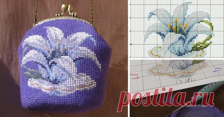 Вяжем бисерную сумочку Представляю вашему вниманию мастер-класс по изготовлению вязаной бисером сумочки. 1. Выкройка. Первое, что мы должны сделать - это создать выкройку для будущей сумочки.