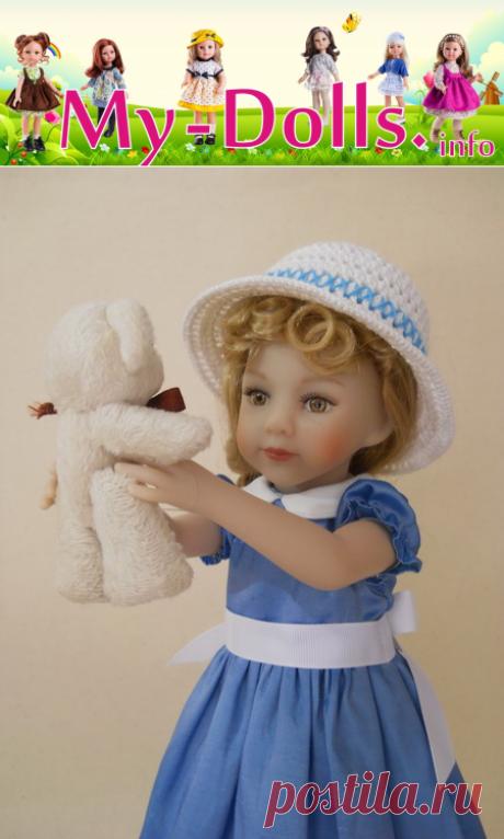 Шляпка для куклы Паола Рейна вязаная крючком. Мастер-класс