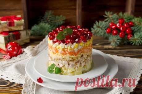 Новогодний салат «Красная шапочка» — Вкусные рецепты